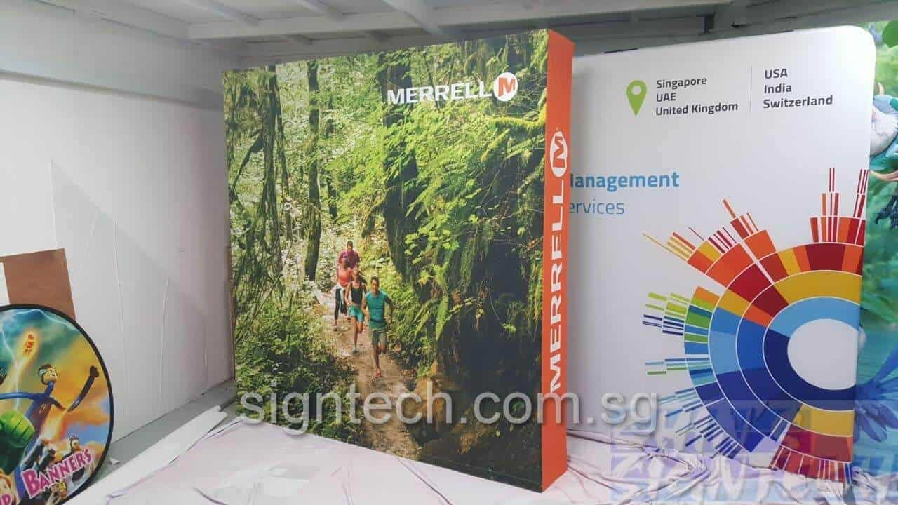 Portable Exhibition Stands Singapore : Kg pop up display system fast and light only
