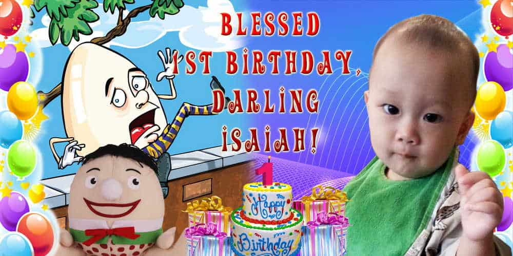 1st Birthday Banner With Photo 1st Birthday Banners With