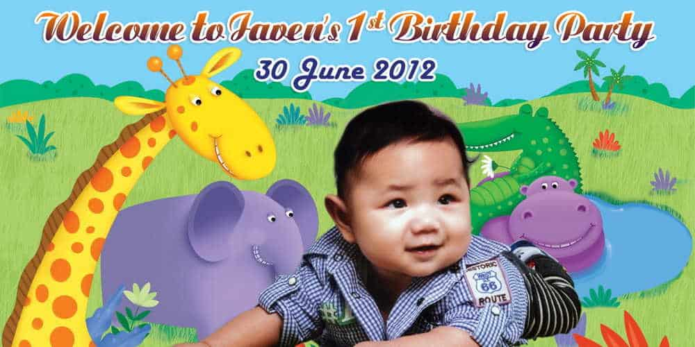 1st Birthday Banner With Photo 1st Birthday Banner Singapore