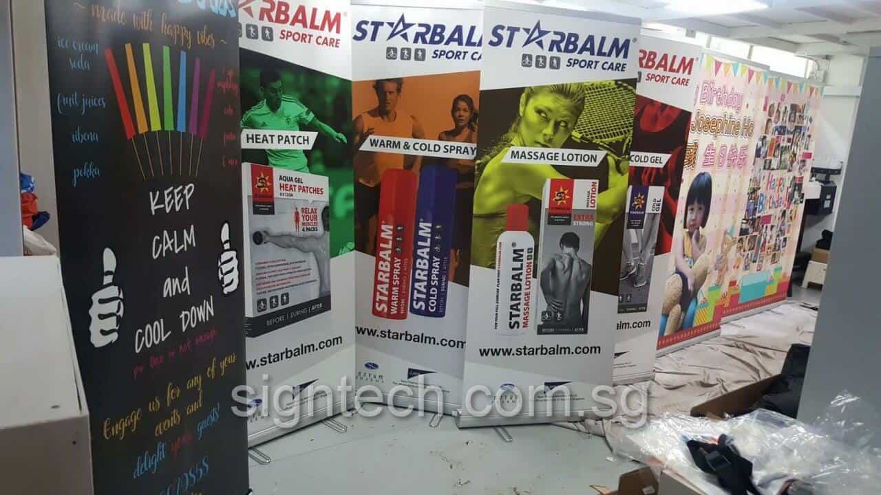 2 x 0.85m Roll up banner for STARBALM