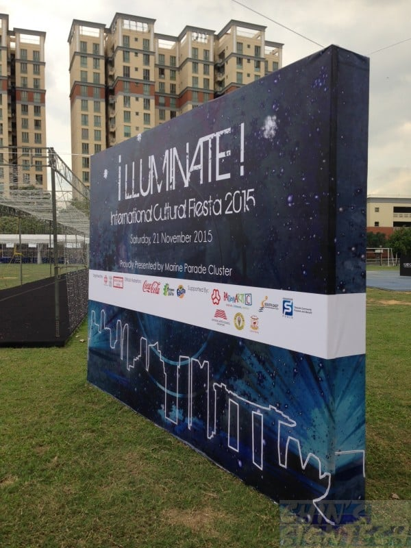 3 x 2.5m Double sided Photo Booth backdrop for Illuminate !