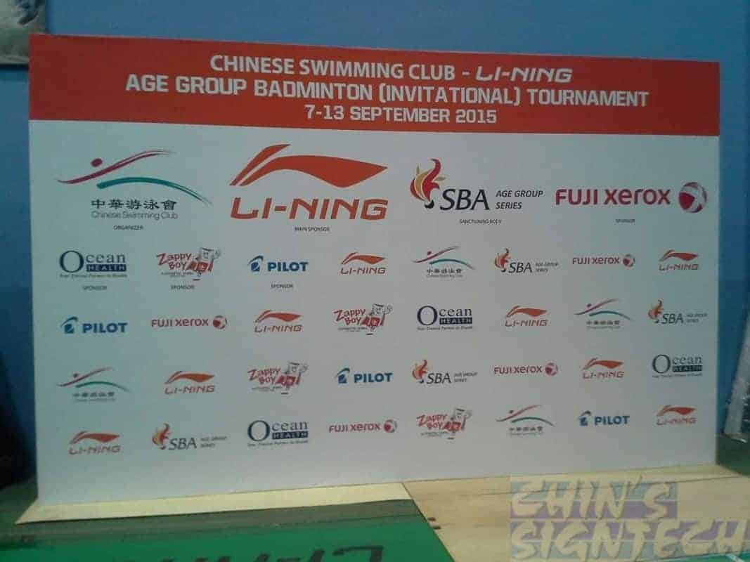 Photo Booth display for Chinese swimming Club