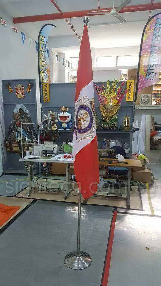 4.8 x 3ft NCC Flag on sliver flag pole- 75gsm_1