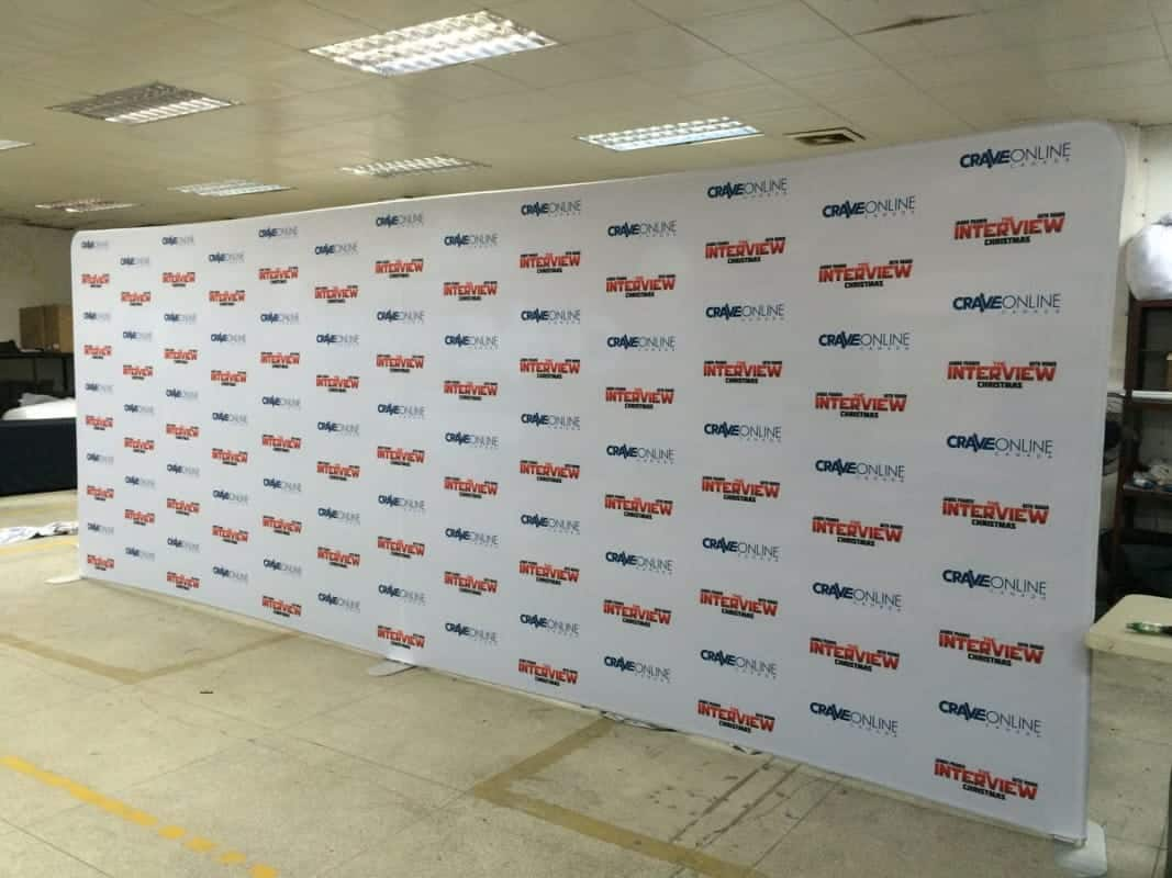 20 feet step and repeart fabric backdrop