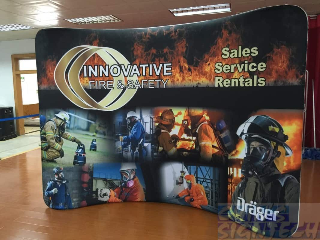 10ft curve Tension Fabric Display system
