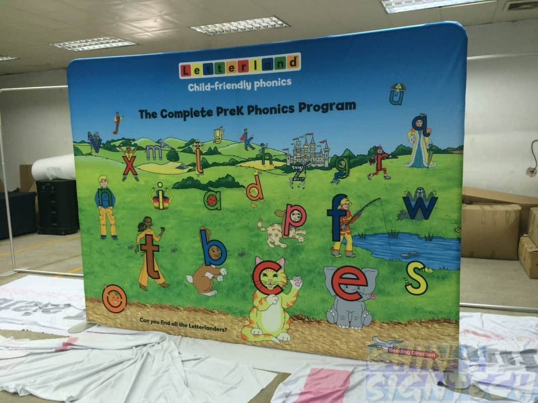 10ft portable fabric display stand