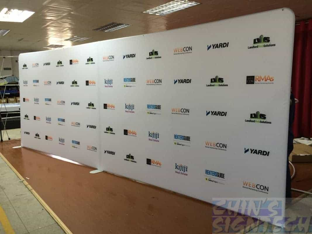 20ft step and repeat fabric display