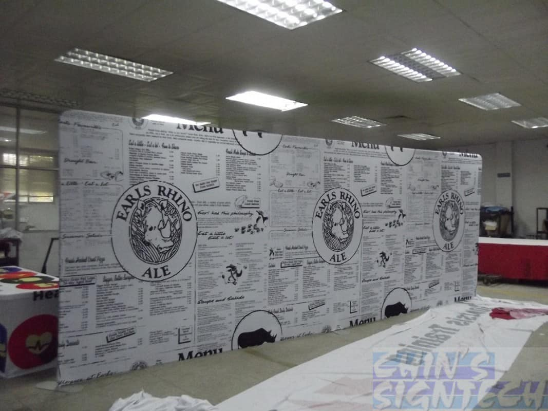20ft tension fabric display