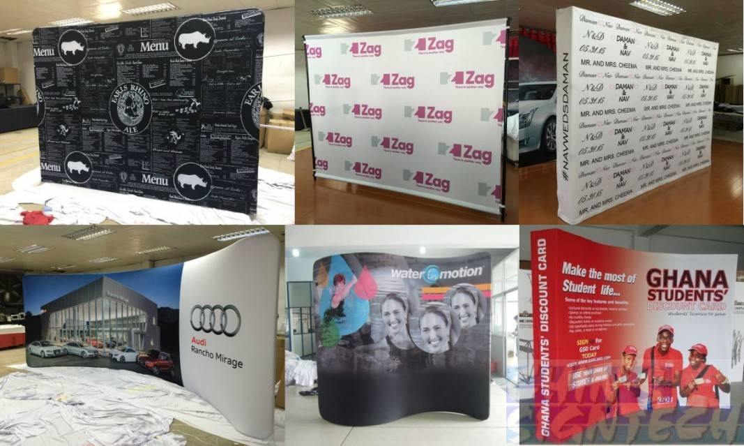 many types of portable backdrop displays