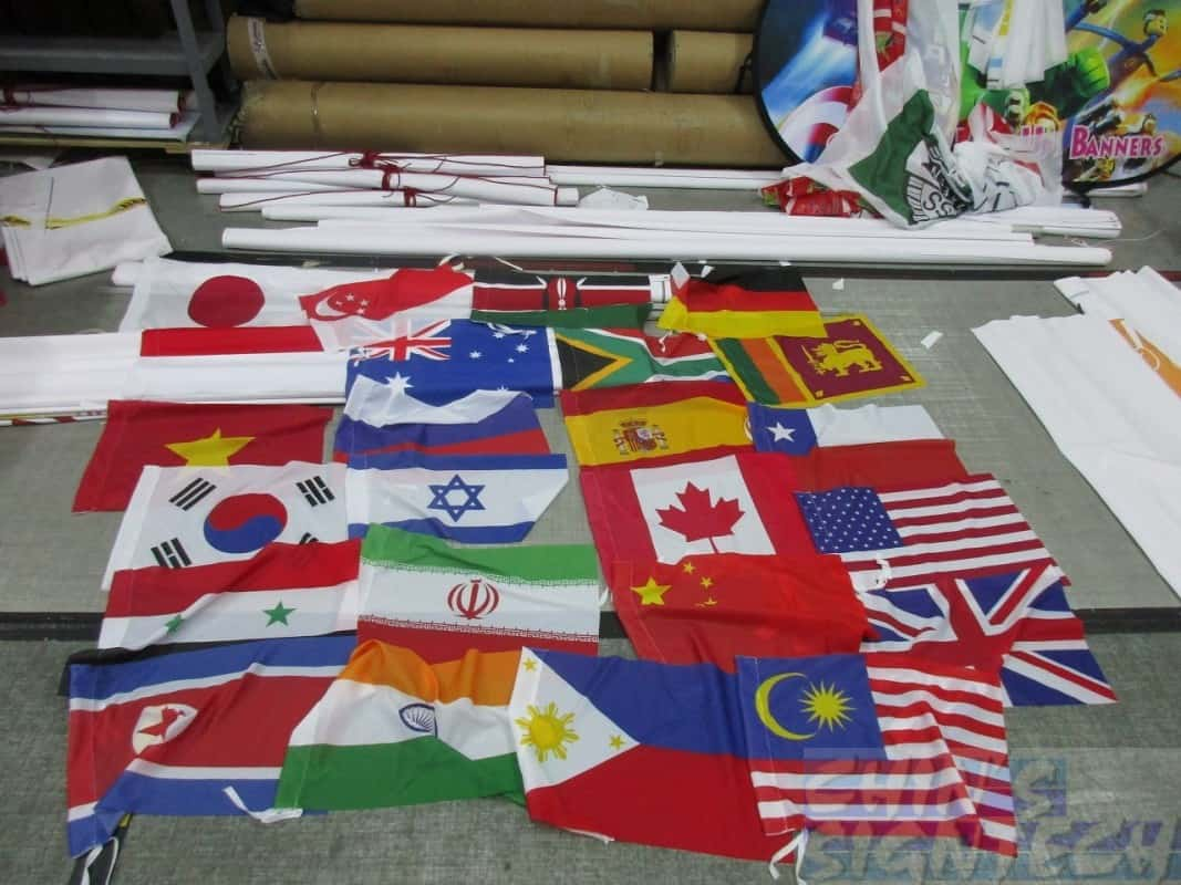 24 major country flags