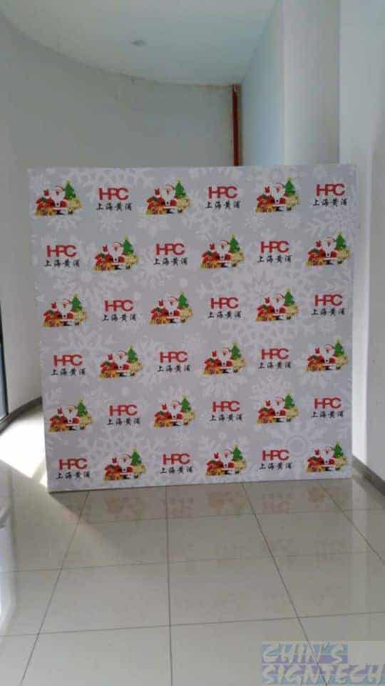 8 x 8ft Christmas step and repeat photo booth backdrop