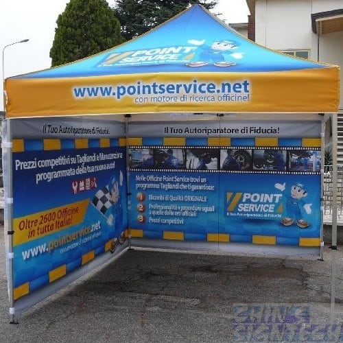 3x3m full canopy system with 2 Full back printing
