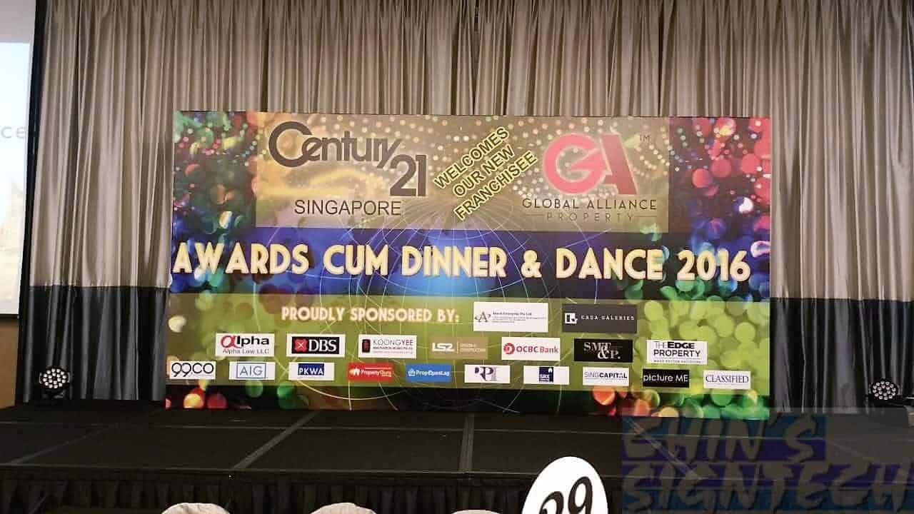 16 x 8 Dinner And Dance backdrop - Century 21