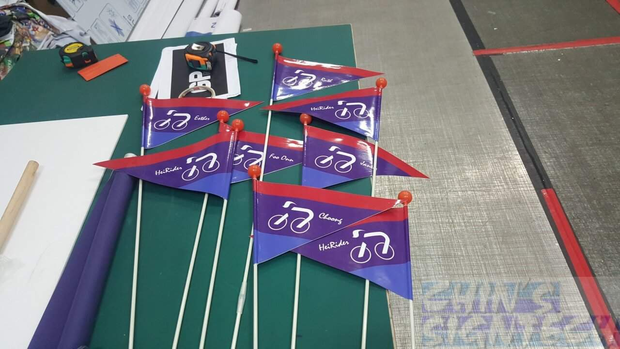 Safety Bicycle Flags for oversea travel