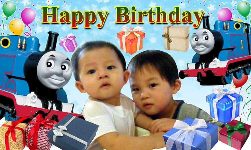 Portable Exhibition Stands Singapore : Thomas friends birthday banner
