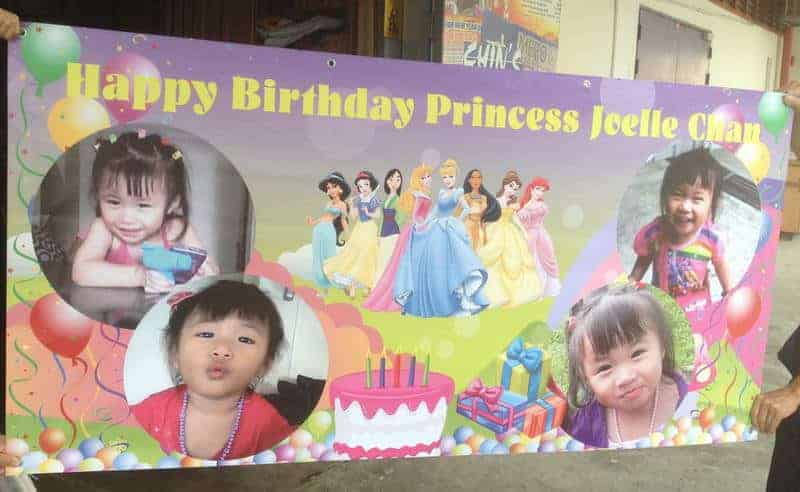 Banner Printing for Birthday with Disney Princess design