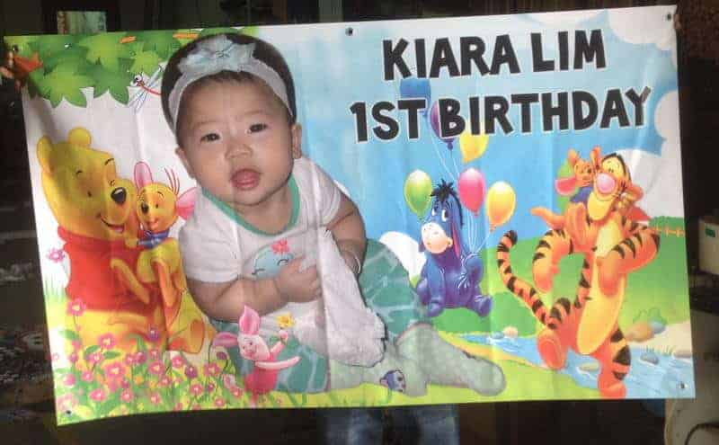 Banner Printing for birthday with Winnie the Pooh design