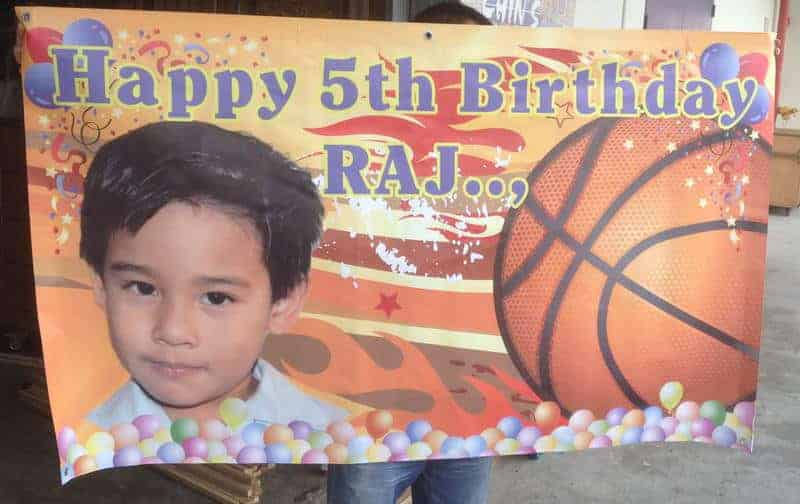 Basketball Birthday Banner