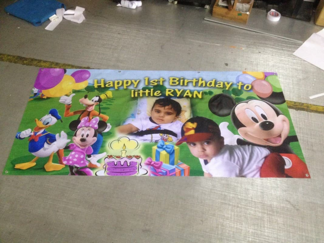 Birthday Banner printed on PVC Banner