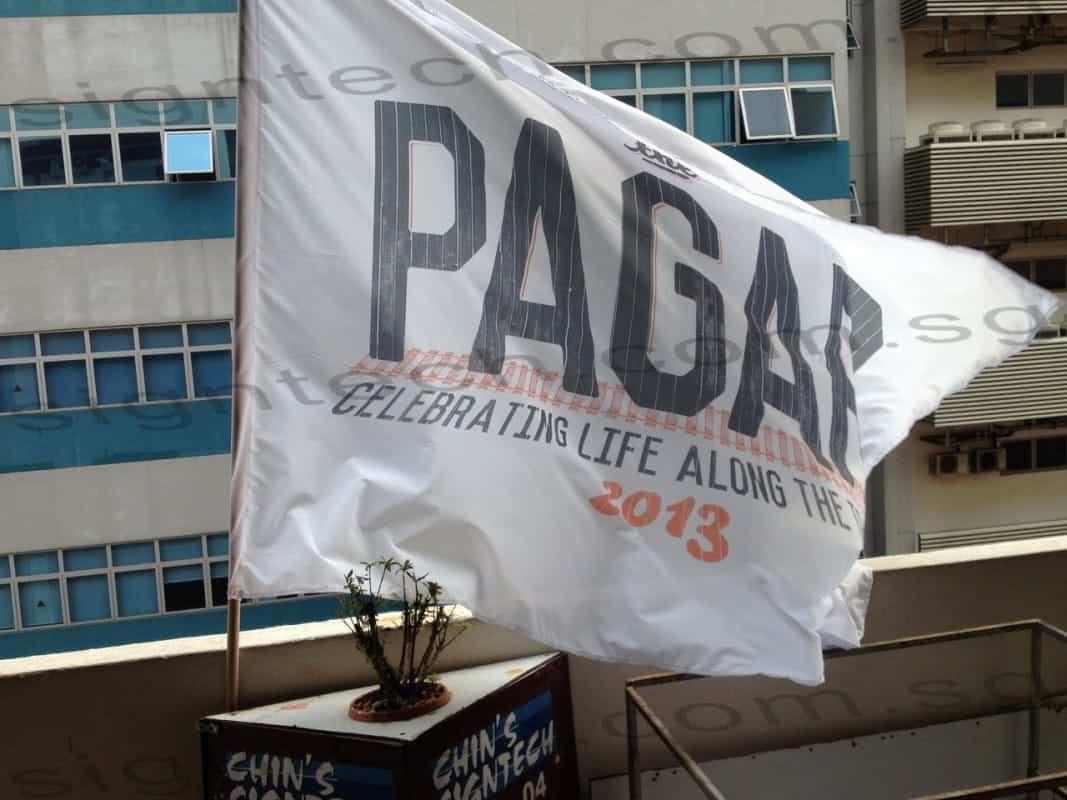 Flag with pole flying - Pagar