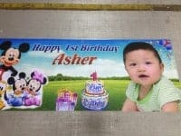 Mickey Mouse Birthday Banner printed on PVC Banner