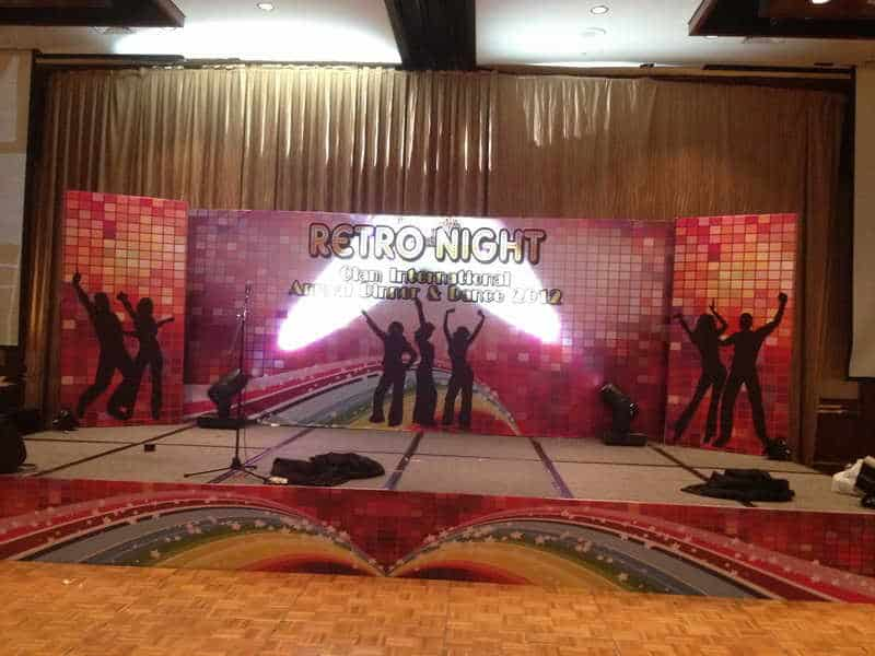Stage Backdrop Printing with Retro theme