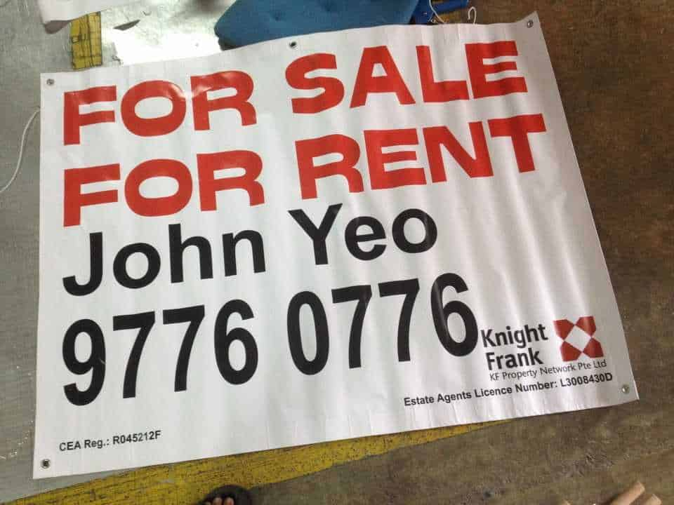 Banner Printing on Real Estate Banner