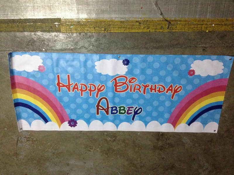 Banner printing for Birthday