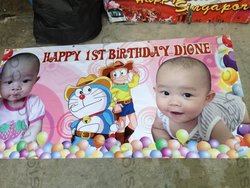 Doraemon Birthday Banner