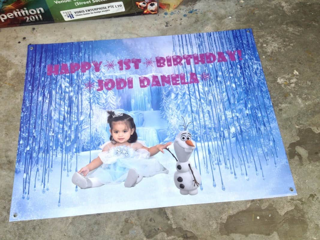 Portable Exhibition Stands Singapore : Custom banner for your loved one s or special events