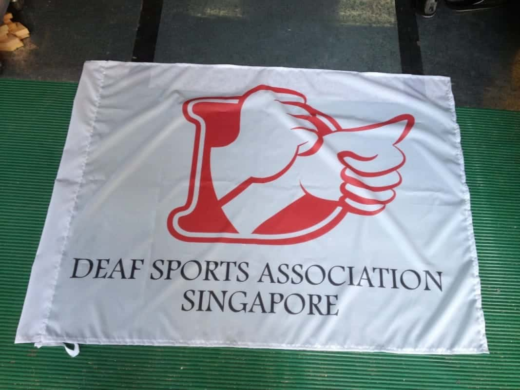 image on front side of flag