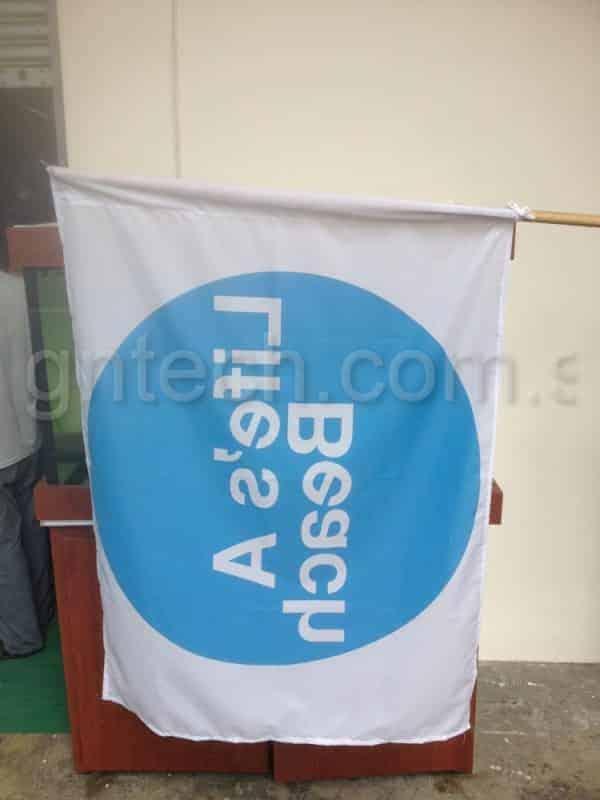 Reverse side of Flag