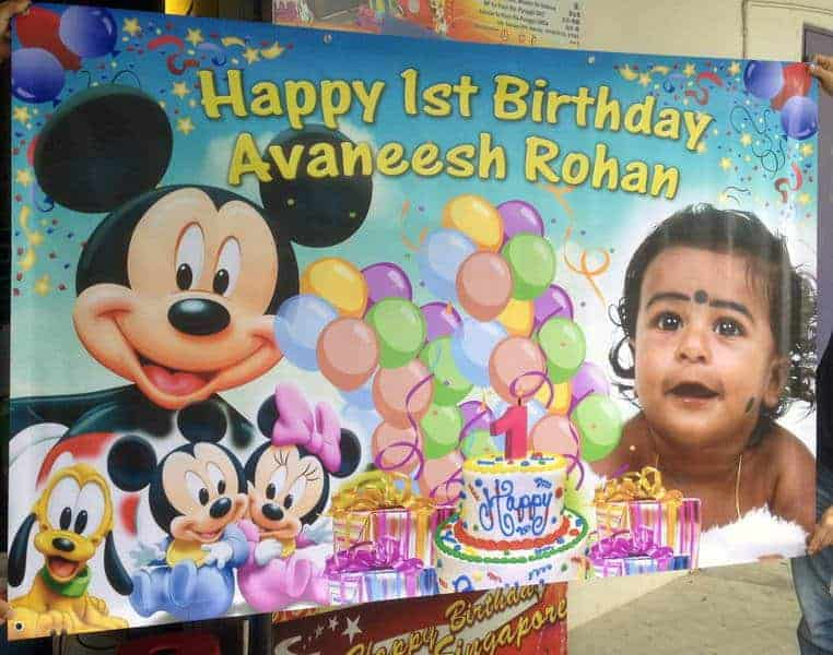 Mickey mouse birthday banner printing