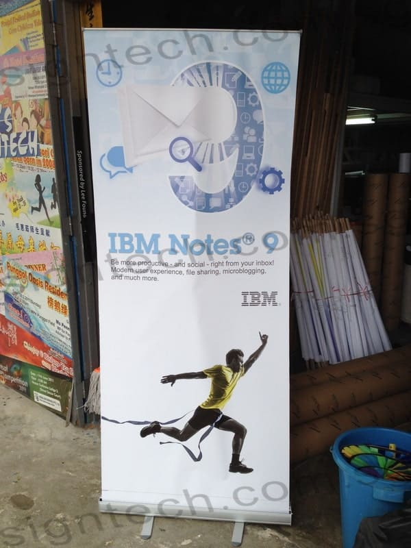 Roll up banner for IBM